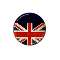 Flag Of Britain Grunge Union Jack Flag Background Hat Clip Ball Marker (4 Pack)