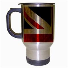 Flag Of Britain Grunge Union Jack Flag Background Travel Mug (silver Gray)