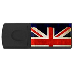 Flag Of Britain Grunge Union Jack Flag Background USB Flash Drive Rectangular (4 GB)
