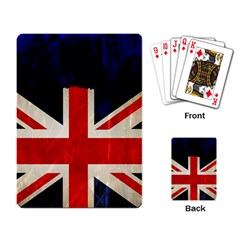 Flag Of Britain Grunge Union Jack Flag Background Playing Card