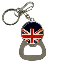 Flag Of Britain Grunge Union Jack Flag Background Button Necklaces