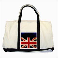 Flag Of Britain Grunge Union Jack Flag Background Two Tone Tote Bag