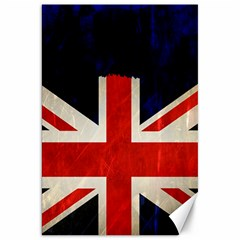 Flag Of Britain Grunge Union Jack Flag Background Canvas 20  x 30