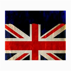 Flag Of Britain Grunge Union Jack Flag Background Small Glasses Cloth (2-Side)