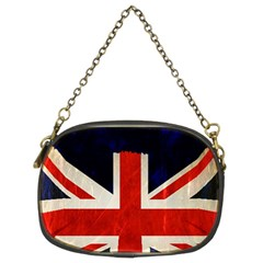 Flag Of Britain Grunge Union Jack Flag Background Chain Purses (Two Sides)
