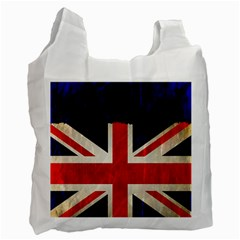 Flag Of Britain Grunge Union Jack Flag Background Recycle Bag (Two Side)