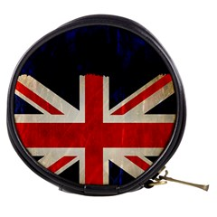 Flag Of Britain Grunge Union Jack Flag Background Mini Makeup Bags