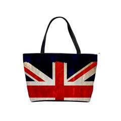 Flag Of Britain Grunge Union Jack Flag Background Shoulder Handbags