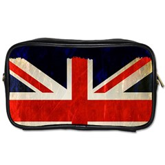 Flag Of Britain Grunge Union Jack Flag Background Toiletries Bags