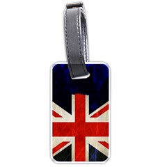 Flag Of Britain Grunge Union Jack Flag Background Luggage Tags (Two Sides)