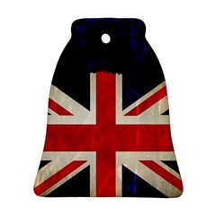 Flag Of Britain Grunge Union Jack Flag Background Bell Ornament (two Sides)