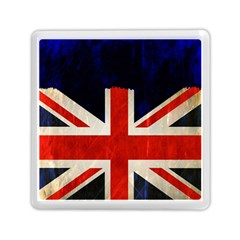 Flag Of Britain Grunge Union Jack Flag Background Memory Card Reader (Square)