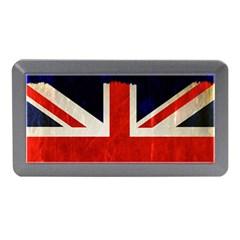Flag Of Britain Grunge Union Jack Flag Background Memory Card Reader (Mini)