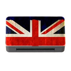 Flag Of Britain Grunge Union Jack Flag Background Memory Card Reader with CF