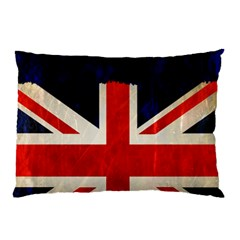 Flag Of Britain Grunge Union Jack Flag Background Pillow Case (Two Sides)