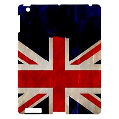 Flag Of Britain Grunge Union Jack Flag Background Apple iPad 3/4 Hardshell Case