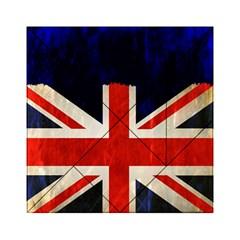 Flag Of Britain Grunge Union Jack Flag Background Acrylic Tangram Puzzle (6  x 6 )