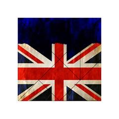 Flag Of Britain Grunge Union Jack Flag Background Acrylic Tangram Puzzle (4  x 4 )