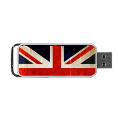 Flag Of Britain Grunge Union Jack Flag Background Portable USB Flash (Two Sides)