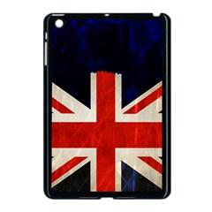Flag Of Britain Grunge Union Jack Flag Background Apple iPad Mini Case (Black)