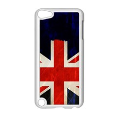 Flag Of Britain Grunge Union Jack Flag Background Apple iPod Touch 5 Case (White)