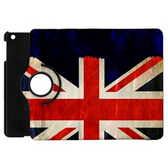 Flag Of Britain Grunge Union Jack Flag Background Apple Ipad Mini Flip 360 Case