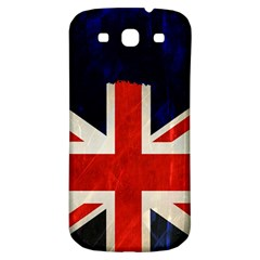 Flag Of Britain Grunge Union Jack Flag Background Samsung Galaxy S3 S III Classic Hardshell Back Case