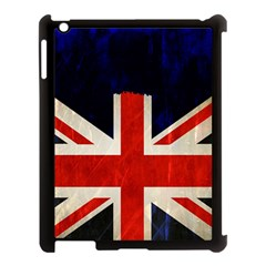 Flag Of Britain Grunge Union Jack Flag Background Apple Ipad 3/4 Case (black)