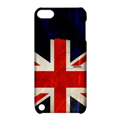 Flag Of Britain Grunge Union Jack Flag Background Apple iPod Touch 5 Hardshell Case with Stand