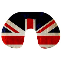 Flag Of Britain Grunge Union Jack Flag Background Travel Neck Pillows