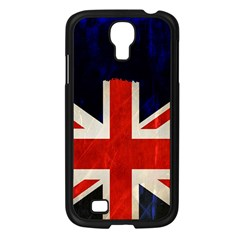 Flag Of Britain Grunge Union Jack Flag Background Samsung Galaxy S4 I9500/ I9505 Case (Black)