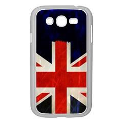 Flag Of Britain Grunge Union Jack Flag Background Samsung Galaxy Grand DUOS I9082 Case (White)