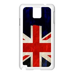 Flag Of Britain Grunge Union Jack Flag Background Samsung Galaxy Note 3 N9005 Case (white)