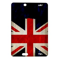 Flag Of Britain Grunge Union Jack Flag Background Amazon Kindle Fire HD (2013) Hardshell Case