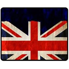 Flag Of Britain Grunge Union Jack Flag Background Double Sided Fleece Blanket (Medium)