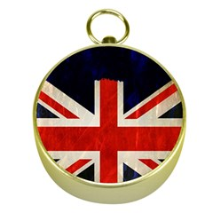 Flag Of Britain Grunge Union Jack Flag Background Gold Compasses