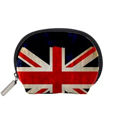 Flag Of Britain Grunge Union Jack Flag Background Accessory Pouches (Small)