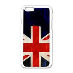 Flag Of Britain Grunge Union Jack Flag Background Apple Iphone 6/6s White Enamel Case