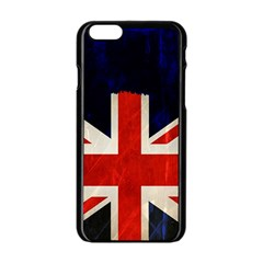 Flag Of Britain Grunge Union Jack Flag Background Apple Iphone 6/6s Black Enamel Case