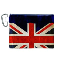 Flag Of Britain Grunge Union Jack Flag Background Canvas Cosmetic Bag (XL)