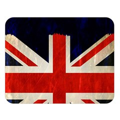 Flag Of Britain Grunge Union Jack Flag Background Double Sided Flano Blanket (Large)