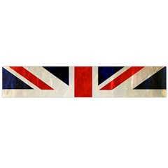 Flag Of Britain Grunge Union Jack Flag Background Flano Scarf (Large)