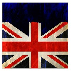 Flag Of Britain Grunge Union Jack Flag Background Large Satin Scarf (square)
