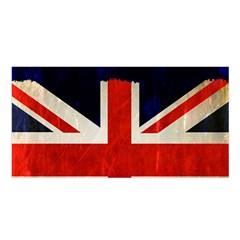 Flag Of Britain Grunge Union Jack Flag Background Satin Shawl