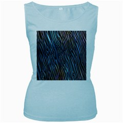 Abstract Background Wallpaper Women s Baby Blue Tank Top