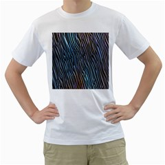 Abstract Background Wallpaper Men s T Shirt (white) (two Sided)