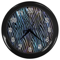 Abstract Background Wallpaper Wall Clocks (black)