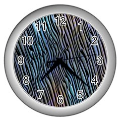 Abstract Background Wallpaper Wall Clocks (Silver)