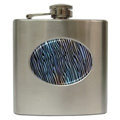 Abstract Background Wallpaper Hip Flask (6 oz)