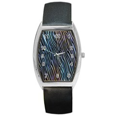 Abstract Background Wallpaper Barrel Style Metal Watch